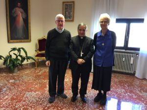 Formal meeting with Cardinal Beccui held